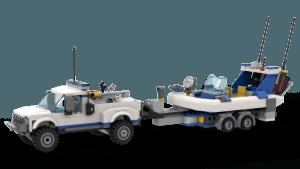 Police Patrol - Off-Road Car, Trailer & Boat (60045)